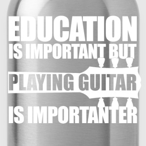 Education Guitar_wt T-Shirts - Water Bottle