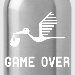 Having a baby game over t shirt - Water Bottle