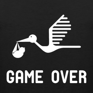 Having a baby game over t shirt - Men's Premium Tank