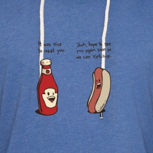 Funny ketchup and hotdog t shirt - Unisex Lightweight Terry Hoodie