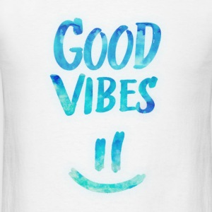 Good Vibes - Funny Smiley Statement / Happy Face Baby Bodysuits - Men's T-Shirt