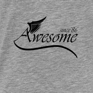 Awesome Since 1986 Hoodies - Men's Premium T-Shirt