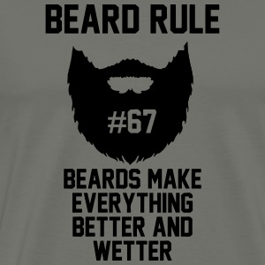 Beard Rules Hoodies - Men's Premium T-Shirt