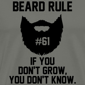 beard rule 61 Hoodies - Men's Premium T-Shirt