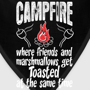 Campfire Where Friends And Marshmallows Get Toast - Bandana