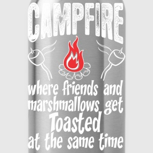 Campfire Where Friends And Marshmallows Get Toast - Water Bottle