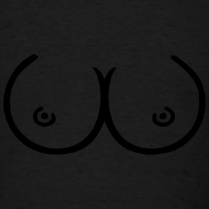 boobs Caps - Men's T-Shirt