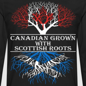 Canadian Grown With Scottish Roots - Men's Premium Long Sleeve T-Shirt
