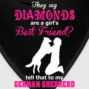 Diamonds Are A Girl Best Friend?  German Shepherd - Bandana