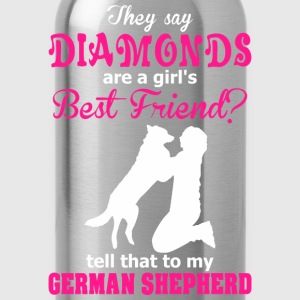 Diamonds Are A Girl Best Friend?  German Shepherd - Water Bottle