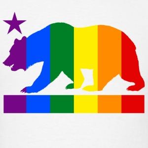 California Pride Bear - Men's T-Shirt