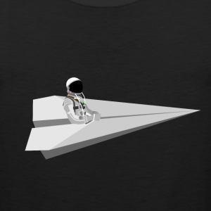 Mercury Astronaut riding paper air plane - Men's Premium Tank