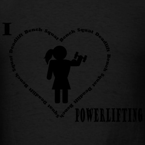 I love powerlifting hoodie black - Men's T-Shirt