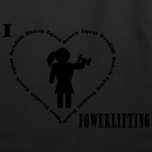 I love powerlifting hoodie black - Eco-Friendly Cotton Tote