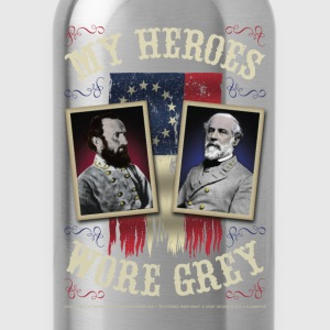 My Heroes Wore Gray T-Shirts - Water Bottle