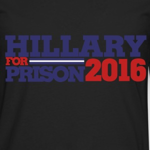 Hillary for Prison 2016 antihillary - Men's Premium Long Sleeve T-Shirt