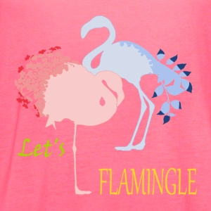 Flamingo Romance Women's T-Shirts - Women's Flowy Tank Top by Bella