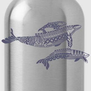 Tropical Whale Mens T-Shirt - Water Bottle