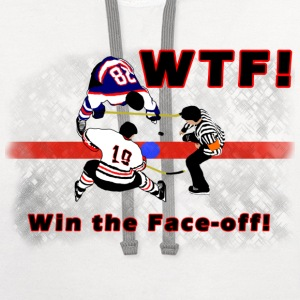WTF! win the face-off t-shirt - Contrast Hoodie