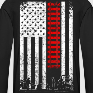 Rail, Railroad T-shirts, Shirts - Men's Premium Long Sleeve T-Shirt