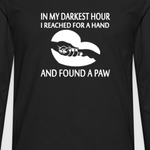 FOUND A PAW - Men's Premium Long Sleeve T-Shirt