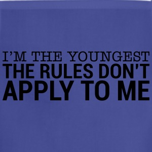 I'm The Youngest - The Rules Don't Apply To Me (3) T-Shirts - Adjustable Apron