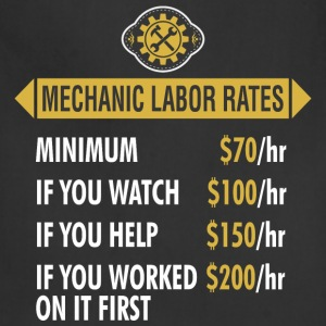 Mechanic Labor Rates - Adjustable Apron