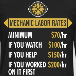 Mechanic Labor Rates - Men's Premium Long Sleeve T-Shirt