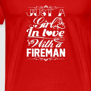 In love with a Fireman - Men's Premium T-Shirt