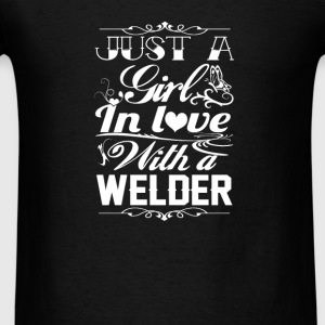 In love with a Welder - Men's T-Shirt