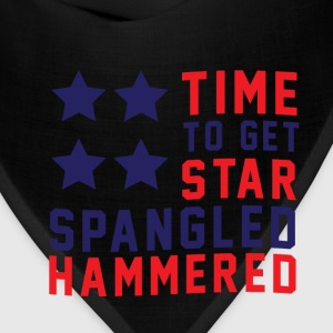 Star Spangled Hammered - American Flag - U.S.A  Long Sleeve Shirts - Bandana