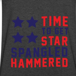 Star Spangled Hammered - American Flag - U.S.A  Long Sleeve Shirts - Men's V-Neck T-Shirt by Canvas