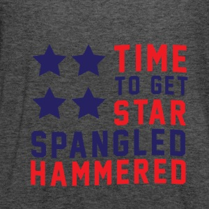 Star Spangled Hammered - American Flag - U.S.A  Long Sleeve Shirts - Women's Flowy Tank Top by Bella