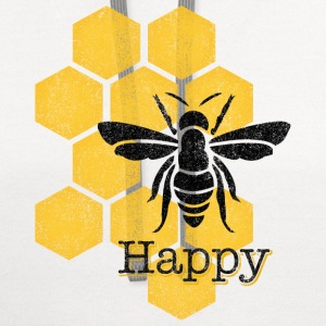 Honeycomb Bee Happy Women's T-Shirts - Contrast Hoodie