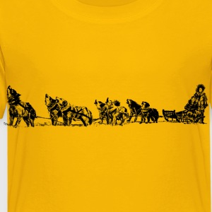 dog sled and team - Toddler Premium T-Shirt
