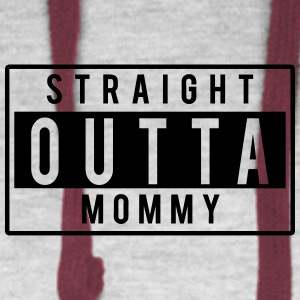 Straight Outta Mommy Kids' Shirts - Colorblock Hoodie