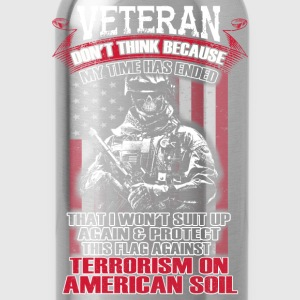 Veteran, Army, Memorial Day Military, Veterans Day - Water Bottle