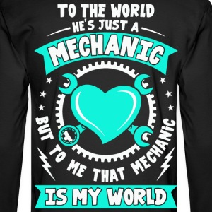 Mechanic, I love my Mechanic tees, Love shirt - Men's Long Sleeve T-Shirt