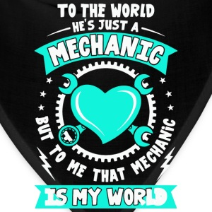 Mechanic, I love my Mechanic tees, Love shirt - Bandana