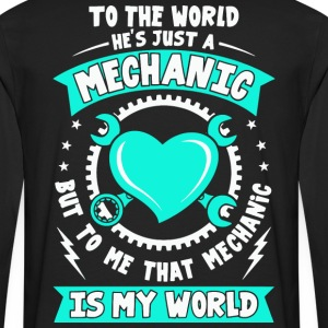 Mechanic, I love my Mechanic tees, Love shirt - Men's Premium Long Sleeve T-Shirt