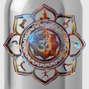 Om Lotus Yoga Poses T-Shirts - Water Bottle