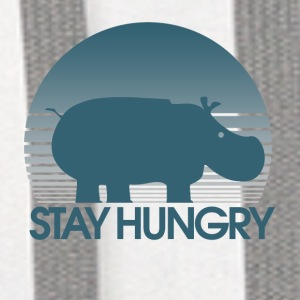 Stay Hungry Hippo inspiration - Contrast Hoodie