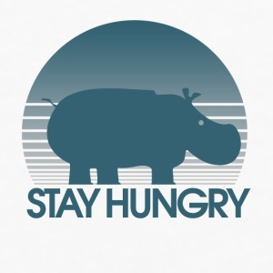 Stay Hungry Hippo inspiration - Men's Premium Long Sleeve T-Shirt