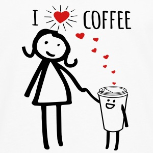 Cute I Love Coffee Women's T-Shirts - Men's Premium Long Sleeve T-Shirt