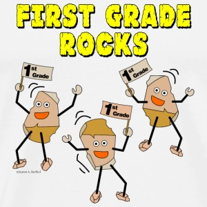 First Grade Rocks Buttons - Men's Premium T-Shirt