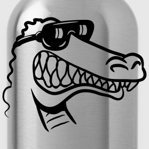 Crocodile fun funny T-Shirts - Water Bottle