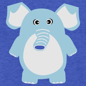 Cute Elephant Sweatshirts - Fitted Cotton/Poly T-Shirt by Next Level
