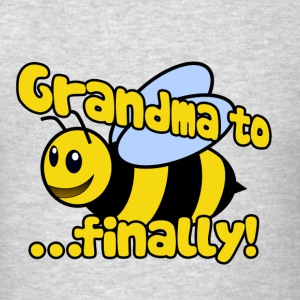 Grandma to be finally bee humor - Men's T-Shirt