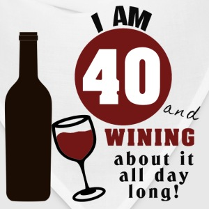 40th Birthday Funny Wine Shirt - Bandana