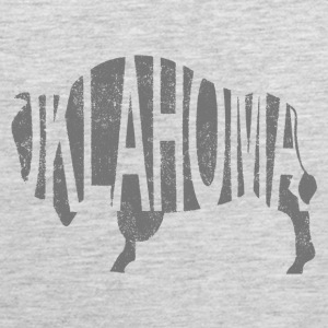 Oklahoma Bison - Distress Long Sleeve Shirts - Men's Premium Tank
